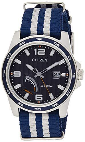 シチズン 逆輸入 海外モデル 海外限定 アメリカ直輸入 AW7038-04L 【送料無料】Citizen Men's Eco-Drive Stainless Steel Quartz Nylon Strap, Blue, 21 Casual Watch (Model: AW7038-04L)シチズン 逆輸入 海外モデル 海外限定 アメリカ直輸入 AW7038-04L