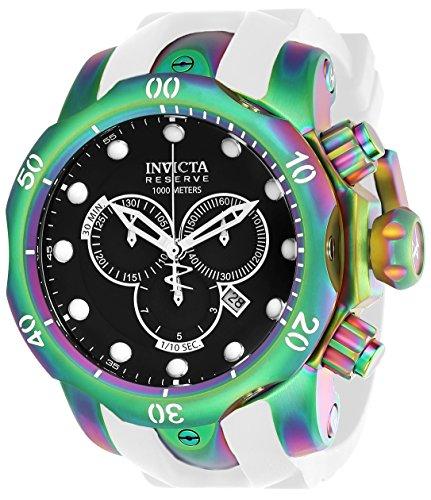 インヴィクタ インビクタ リザーブ 腕時計 メンズ 【送料無料】Invicta Men's Venom Stainless Steel Analog Quartz Watch with Silicone Strap, White, 26 (Model: 24061)インヴィクタ インビクタ リザーブ 腕時計 メンズ