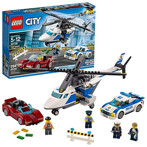 レゴ シティ 6174391 【送料無料】LEGO City Police High-Speed Chase 60138 Building Toy with Cop Car, Police Helicopter, and Getaway Sports Car (294 Pieces)レゴ シティ 6174391