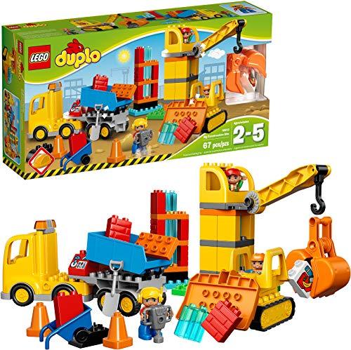 レゴ デュプロ 10813 LEGO DUPLO Big Construction Site 10813 Building Set with Toy Dump Truck, Toy Crane and Toy Bulldozer for a complete Toddler Construction Toy Set (67 Pieces)レゴ デュプロ 10813