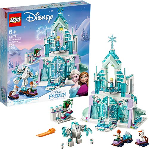 レゴ ディズニープリンセス 6175084 【送料無料】LEGO Disney Princess Elsa's Magical Ice Palace 43172 Toy Castle Building Kit with Mini Dolls, Castle Playset with Popular Frozen Characters including Elsa, Olaf, Anレゴ ディズニープリンセス 6175084