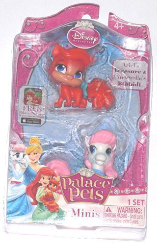 ディズニープリンセス Disney Princess, Palace Pets, Mini Pets, Ariels Treasure and Cinderellas Bibbidi, 2-Packディズニープリンセス