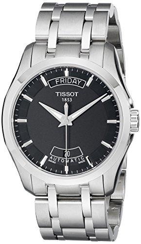 腕時計 ティソ メンズ T0354071105100 【送料無料】Tissot Men's T0354071105100 Couturier Day-Date Calendar Watch腕時計 ティソ メンズ T0354071105100