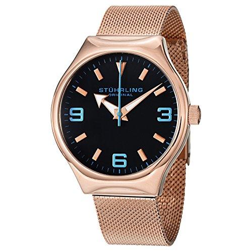 ストゥーリングオリジナル 腕時計 メンズ 184.334451 Stuhrling Original Men's 184.334451 Aviator Falcon Eagle Elite Swiss Quartz Rose Tone Watchストゥーリングオリジナル 腕時計 メンズ 184.334451