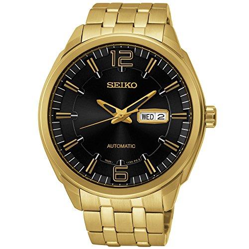 セイコー 腕時計 メンズ SNKN48 Seiko SNKN48 Recrafted Series Gold Dial Black Dial Watch by Seiko Watchesセイコー 腕時計 メンズ SNKN48