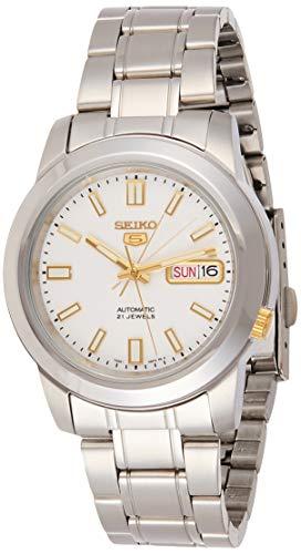 セイコー 腕時計 メンズ SNKK07 【送料無料】Seiko Men's SNKK07 5 Stainless Steel White Dial Watchセイコー 腕時計 メンズ SNKK07
