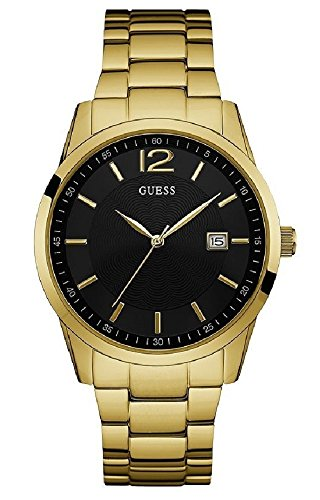 ゲス GUESS 腕時計 メンズ W0901G2 GUESS Men's Perry 45mm Gold-Tone Steel Bracelet & Case Quartz Black Dial Analog Watch W0901G2ゲス GUESS 腕時計 メンズ W0901G2