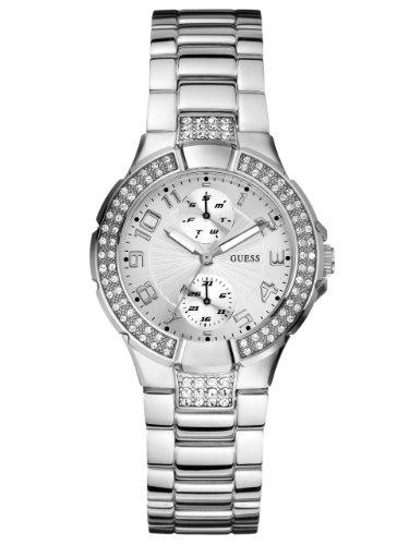 ゲス GUESS 腕時計 レディース U12003L1 【送料無料】GUESS U12003L1 Status In-the-Round Watch - Silverゲス GUESS 腕時計 レディース U12003L1
