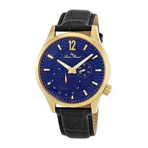 ルシアンピカール 腕時計 メンズ LP-40022-YG-03 Lucien Piccard Men's 'Burano' Quartz Stainless Steel and Black Leather Casual Watch (Model: LP-40022-YG-03)ルシアンピカール 腕時計 メンズ LP-40022-YG-03