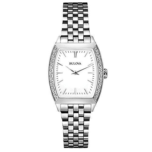 腕時計 ブローバ メンズ 96R196 【送料無料】Bulova 96R196 Diamond Gallery Silver Steel Bracelet Watch腕時計 ブローバ メンズ 96R196