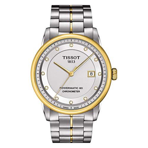 無料ラッピングでプレゼントや贈り物にも 逆輸入並行輸入送料込 腕時計 ティソ 贈物 メンズ T0864082203600 送料無料 Tissot Luxury Automatic 国際ブランド Steel Diamond Dial Stainless Watch Mens Two-Tone T0864082203600腕時計 Silver