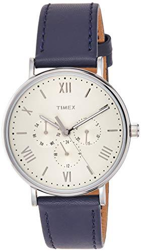 タイメックス 腕時計 レディース TW2R29200 Timex Unisex TW2R29200 Southview 41 Multifunction Blue/White Leather Strap Watchタイメックス 腕時計 レディース TW2R29200