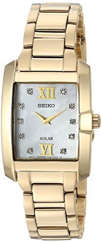 腕時計 セイコー レディース SUP378 【送料無料】Seiko Women's Diamond Solar Japanese-Quartz Watch with Gold-Tone-Stainless-Steel Strap, 14 (Model: SUP378)腕時計 セイコー レディース SUP378