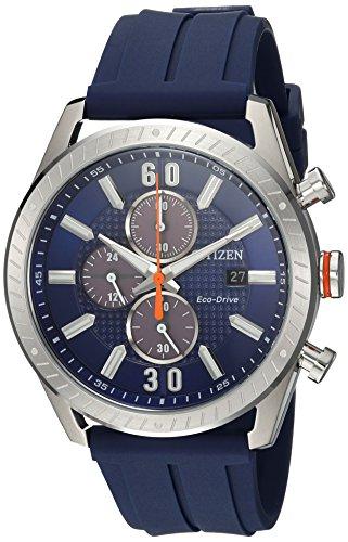 シチズン 逆輸入 海外モデル 海外限定 アメリカ直輸入 CA0661-01L 【送料無料】Citizen Men's 'Drive' Quartz Stainless Steel and Polyurethane Casual Watch, Color:Blue (Model: CA0661-01L)シチズン 逆輸入 海外モデル 海外限定 アメリカ直輸入 CA0661-01L
