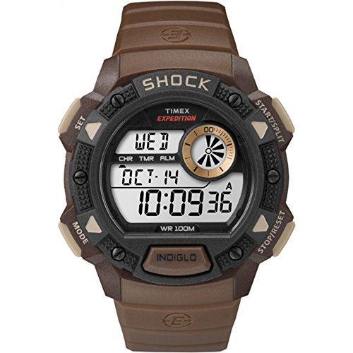 タイメックス 腕時計 メンズ TW4B07500 Timex Men's Expedition Base Shock | Brown Digital Chronograph Watch TW4B07500タイメックス 腕時計 メンズ TW4B07500