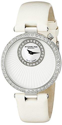 ストゥーリングオリジナル 腕時計 レディース 597.01 Stuhrling Original Women's 597.01 Vogue Audrey Radiance Swiss Quartz Mother-Of-Pearl Swarovski Crystal White Strap Watchストゥーリングオリジナル 腕時計 レディース 597.01