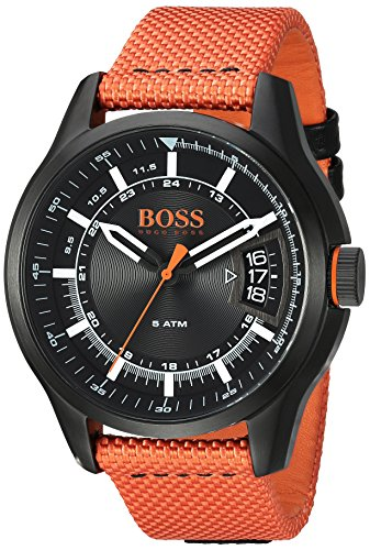 ヒューゴボス 高級腕時計 メンズ 1550001 HUGO BOSS Men's 'HONG KONG SPORT' Quartz Resin and Nylon Casual Watch, Color:Orange (Model: 1550001)ヒューゴボス 高級腕時計 メンズ 1550001