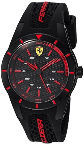 フェラーリ 腕時計 メンズ 840004 【送料無料】Ferrari Men's RedRev Stainless Steel Quartz Watch with Rubber Strap, Black, 19 (Model: 0840004)フェラーリ 腕時計 メンズ 840004