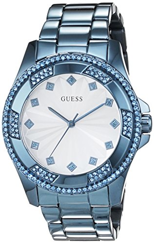 ゲス GUESS 腕時計 レディース W0702L1 【送料無料】Guess (GVSS5) Women's Quartz Watch with White Dial Analogue Display and Blue Stainless Steel Bracelet W0702L1ゲス GUESS 腕時計 レディース W0702L1