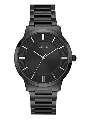 ゲス GUESS 腕時計 メンズ U0990G5 GUESS Stainless Steel Black Ionic Plated Dress Bracelet Watch. Color: Black (Model: U0990G5)ゲス GUESS 腕時計 メンズ U0990G5