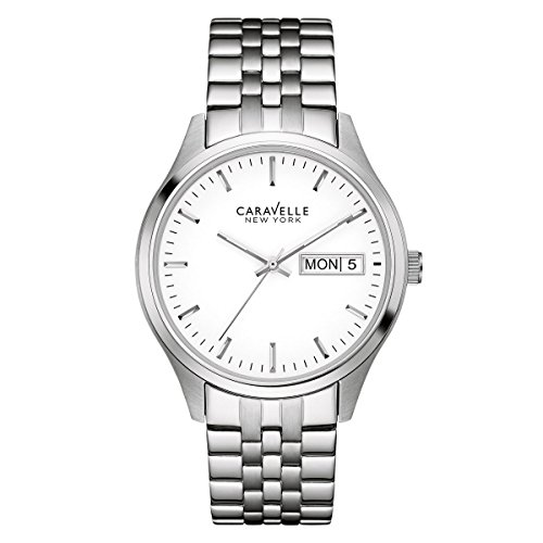 ブローバ 腕時計 メンズ 43C114 Caravelle 43C114 Men's Corporate Exclusive White Dial Stainless Steel Bracelet Watchブローバ 腕時計 メンズ 43C114