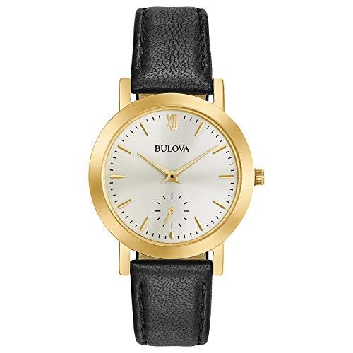 ブローバ 腕時計 レディース 97L159 【送料無料】Bulova Women's Stainless Steel Analog-Quartz Watch with Leather Strap, Black, 0.5 (Model: 97L159)ブローバ 腕時計 レディース 97L159