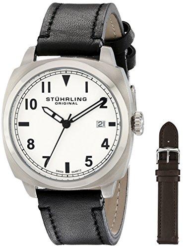 ストゥーリングオリジナル 腕時計 メンズ 770.SET.01 Stuhrling Original Men's 770.SET.01 Tuskegee Spitfire Watch Set with Two Interchangeable Strapsストゥーリングオリジナル 腕時計 メンズ 770.SET.01