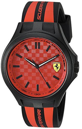 フェラーリ 腕時計 メンズ 0830281 Scuderia Ferrari Men's Quartz Watch with Silicone Strap, Black, 22 (Model: 0830281)フェラーリ 腕時計 メンズ 0830281