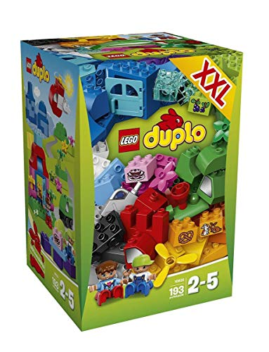 レゴ デュプロ Lego Year 2015 Duplo Series Set #10622 - LARGE CREATIVE BOX with Train in Mountain, Boat at Port & Picnic at House Landscapes Plus 2 Figures (Piece: 193)レゴ デュプロ