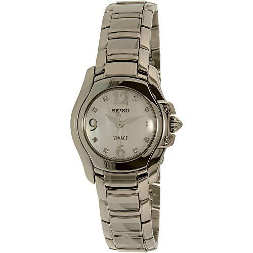 セイコー 腕時計 レディース SXD685 【送料無料】Women's Vivace Stainless Steel Mother of Pearl Dial with Diamondsセイコー 腕時計 レディース SXD685