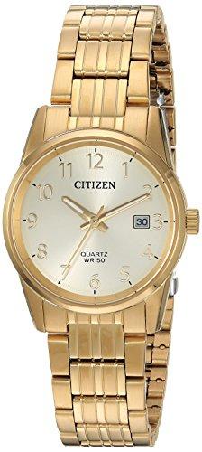 シチズン 逆輸入 海外モデル 海外限定 アメリカ直輸入 EU6002-51Q Citizen Women's Quartz Stainless Steel Casual Watch, Color:Gold-Toned (Model: EU6002-51Q)シチズン 逆輸入 海外モデル 海外限定 アメリカ直輸入 EU6002-51Q