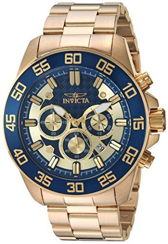 インヴィクタ インビクタ プロダイバー 腕時計 メンズ 24727 【送料無料】Invicta Men's Pro Diver Quartz Watch with Stainless-Steel Strap, Gold, 24 (Model: 24727)インヴィクタ インビクタ プロダイバー 腕時計 メンズ 24727