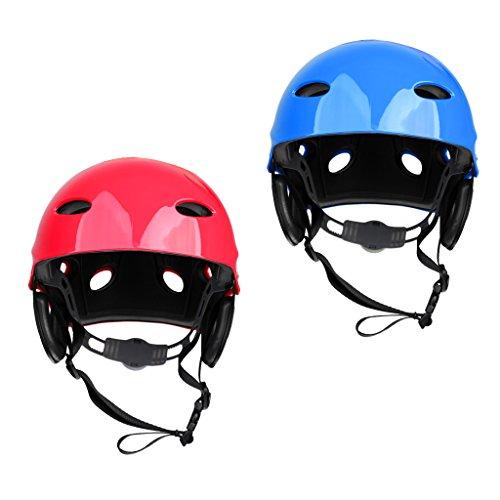 ウォーターヘルメット 安全 マリンスポーツ サーフィン ウェイクボード MonkeyJack 2 Pieces Safety Helmet Hard Hat for Rescue Rafting Kayaking Wakeboard Waterskiing Surfing SUP 55-61cmウォーターヘルメット 安全 マリンスポーツ サーフィン ウェイクボード