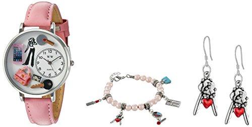 気まぐれな腕時計 かわいい プレゼント クリスマス ユニセックス US1610008SET 【送料無料】Whimsical Watches Women's 'Teen Girl' Quartz Stainless Steel and Leather Watch, Colo気まぐれな腕時計 かわいい プレゼント クリスマス ユニセックス US1610008SET