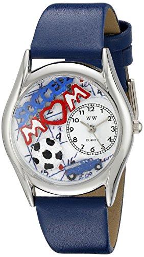 気まぐれな腕時計 かわいい プレゼント クリスマス ユニセックス WHIMS-S1010002 【送料無料】Whimsical Watches Women's S1010002 Soccer Mom Royal Blue Leather Watch気まぐれな腕時計 かわいい プレゼント クリスマス ユニセックス WHIMS-S1010002