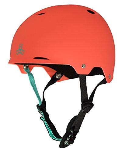 ウォーターヘルメット 安全 マリンスポーツ サーフィン ウェイクボード 0375 【送料無料】Triple Eight Gotham Water Helmet for Wakeboard and Waterskiing, Neon Tangerine Matte, Laウォーターヘルメット 安全 マリンスポーツ サーフィン ウェイクボード 0375