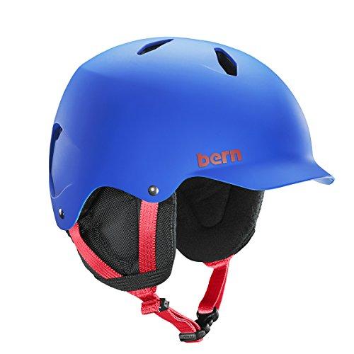 ウォーターヘルメット 安全 マリンスポーツ サーフィン ウェイクボード Bern 【送料無料】Bern Junior Bandito Ski Snow Helmet Matte Cobalt Blue SB03EMCOB Medium Largeウォーターヘルメット 安全 マリンスポーツ サーフィン ウェイクボード Bern