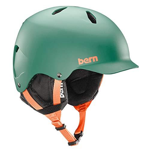 ウォーターヘルメット 安全 マリンスポーツ サーフィン ウェイクボード SB03EMHNT23 BERN - Kids Winter Bandito Snow Helmet, Matte Hunter Green with Black Liner, M/Lウォーターヘルメット 安全 マリンスポーツ サーフィン ウェイクボード SB03EMHNT23