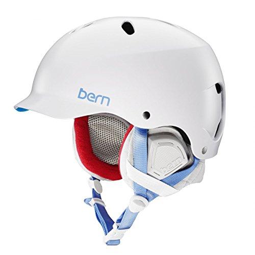 ウォーターヘルメット 安全 マリンスポーツ サーフィン ウェイクボード SW05ESWTE11 Bern 2016/17 Women's Lenox EPS Winter Snow Helmet - w/Knit Liner (Satin White w/Grey Liner -ウォーターヘルメット 安全 マリンスポーツ サーフィン ウェイクボード SW05ESWTE11