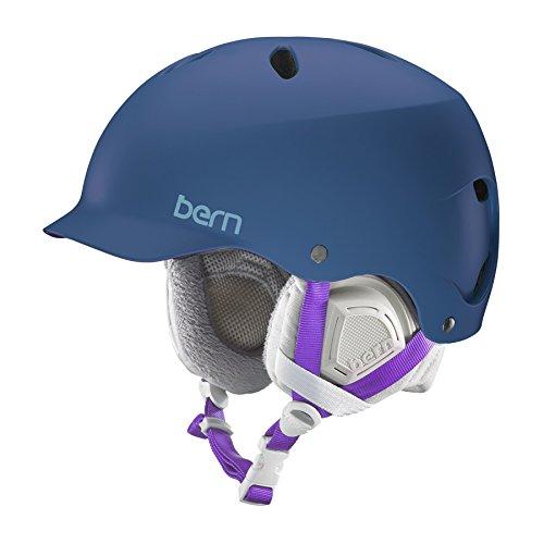 好きに ウォーターヘルメット 安全 マリンスポーツ サーフィン ウェイクボード SW05ESNVY11 Bern 2016/17 Women's Lenox EPS Winter Snow Helmet - w/Knit Liner (Satin Navy Blue w/Grey Linウォーターヘルメット 安全 マリンスポーツ サーフィン ウェイクボード SW05ESNVY11, 幡豆郡 36a779e0