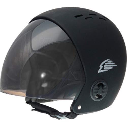 ウォーターヘルメット 安全 マリンスポーツ サーフィン ウェイクボード 【送料無料】Gath Helmet with Retractable Visor - Black - XSウォーターヘルメット 安全 マリンスポーツ サーフィン ウェイクボード
