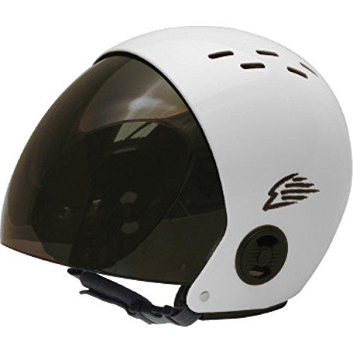 ウォーターヘルメット 安全 マリンスポーツ サーフィン ウェイクボード Gath Helmet with Retractable Visor - White - Sウォーターヘルメット 安全 マリンスポーツ サーフィン ウェイクボード