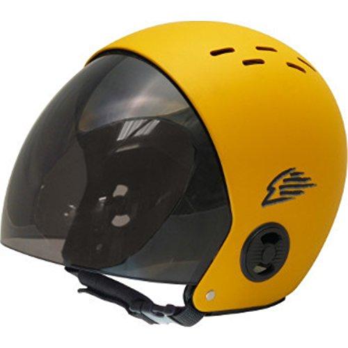 ウォーターヘルメット 安全 マリンスポーツ サーフィン ウェイクボード Gath Helmet with Retractable Visor - Yellow - Lウォーターヘルメット 安全 マリンスポーツ サーフィン ウェイクボード