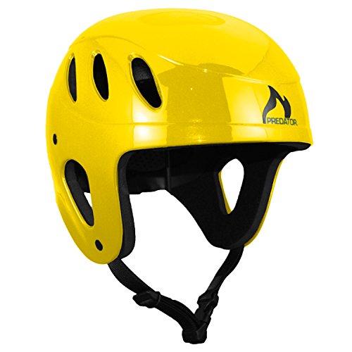 ウォーターヘルメット 安全 マリンスポーツ サーフィン ウェイクボード Predator Full Cut Kayak Helmet-Yellowウォーターヘルメット 安全 マリンスポーツ サーフィン ウェイクボード