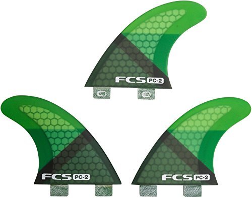 サーフィン フィン マリンスポーツ FCS FCS PC-2 Tri Set - Green Slice - XSサーフィン フィン マリンスポーツ FCS