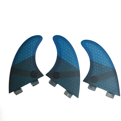 サーフィン フィン マリンスポーツ 【送料無料】UPSURF Surboard Fins FCS G5 Medium Size Fin Tri fin Blue Colorサーフィン フィン マリンスポーツ