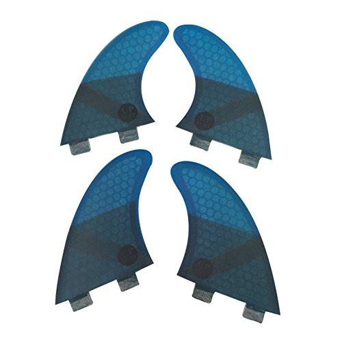 サーフィン フィン マリンスポーツ UPSURF Surfing fins K2.1 FCS Honeycomb+Fiberglass Quad fins (Blue/Grey/Red/Green) (Blue(Logo))サーフィン フィン マリンスポーツ