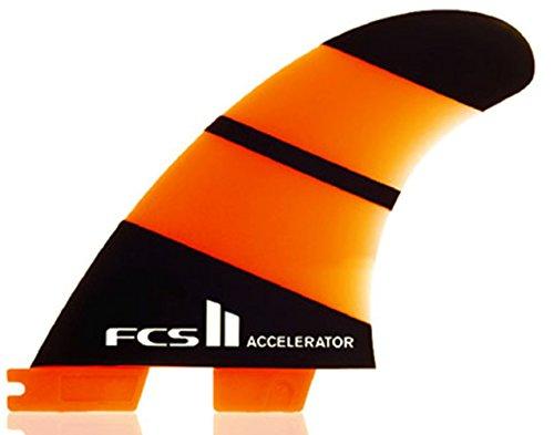 サーフィン フィン マリンスポーツ ACCELERATOR FCS II Accelerator Neo Glass Thruster Fin Medium Orangeサーフィン フィン マリンスポーツ ACCELERATOR