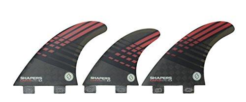 サーフィン フィン マリンスポーツ Shapers Fins Carbon Hybrid Carv'n Series 6 Fin Set (Red (Medium), FCS)サーフィン フィン マリンスポーツ