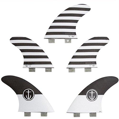 サーフィン フィン マリンスポーツ CFF3211500 Captain Fin Co. CF-5 Fin Large Surfboard Fins | 5 Fin Set | Twin Tab | Blackサーフィン フィン マリンスポーツ CFF3211500